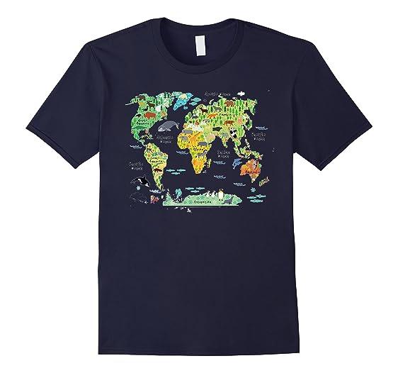 Amazon world map tee shirt clothing mens world map tee shirt 2xl navy gumiabroncs Gallery