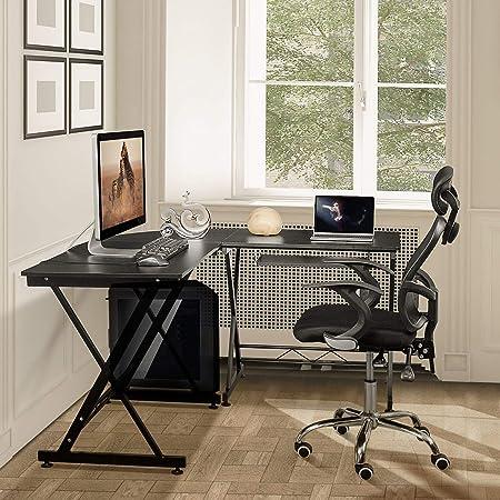 Estante Mesa for computadora Escritorio de oficina en forma de L ...