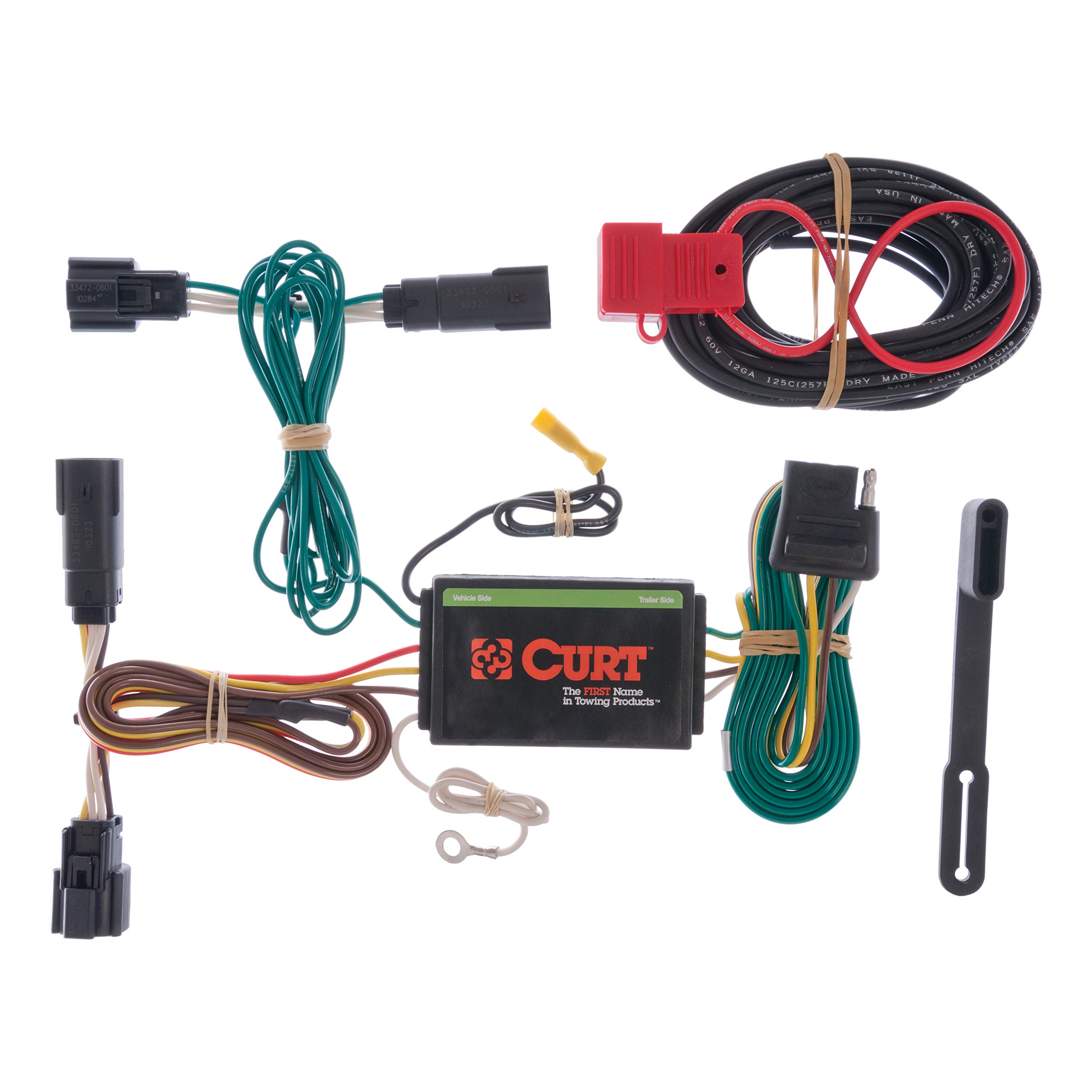CURT 56120 Vehicle-Side Custom 4-Pin Trailer Wiring Harness for Select Ford Edge by CURT