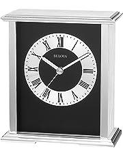 Bulova Baron - Reloj de Mesa, Color Plateado y Negro