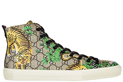 a053514b523 Gucci men s shoes high top trainers sneakers bengal tiger beige UK size 10  451212 K6D30 8683