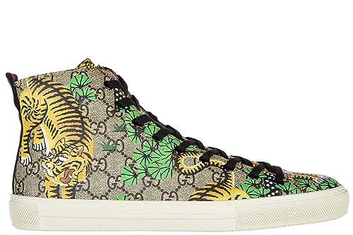 d33d196faebd7 Gucci Scarpe Sneakers Alte Uomo Nuove Bengal Tiger Beige  Amazon.it  Scarpe  e borse