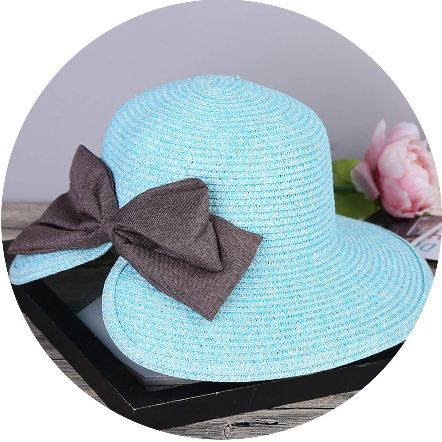 c25fc40c59b Summer UV Protection Beach Hats After Split Fashion Ladies Bow Visor Straw  Hat