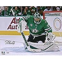 "$47 » Ben Bishop Dallas Stars Autographed 16"" x 20"" Making Save Photograph - Fanatics Authentic Certified - Autographed NHL Photos"
