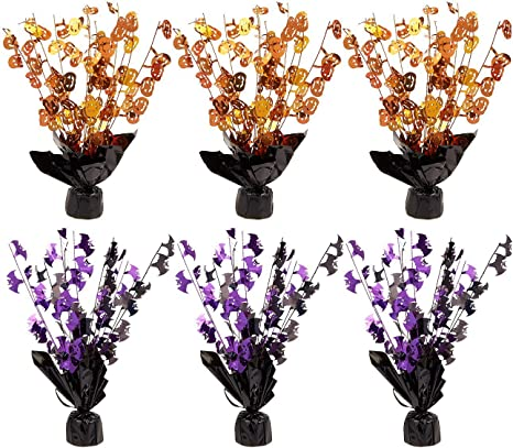 6 Piece Set Of Halloween Centerpiece Decorations Centerpiece Coffee Table Decorations Dining Table Decorations For Haunted House Events Spooky Halloween Decor Orange And Purple Amazon Ca Home Kitchen