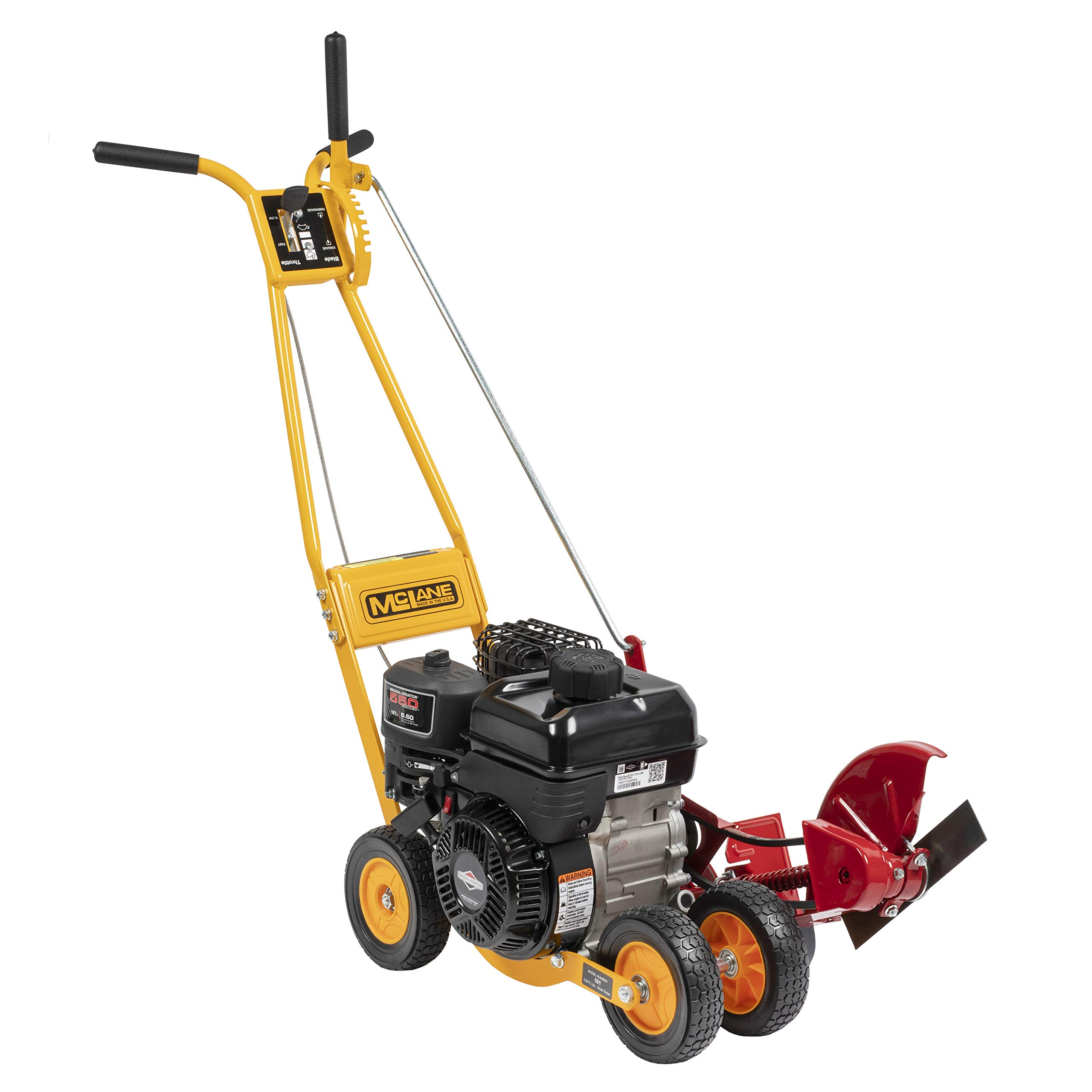 McLane 101-4.75GT-7  9-Inch Gas Powered Lawn Edger, 5.50 Gross Torque B&S Engine 7'' Wheels