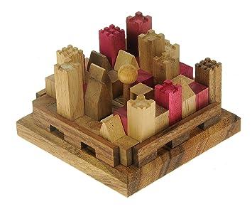 Castle Conundrum Fun Wooden Brain Teaser Puzzle Strategic Iq