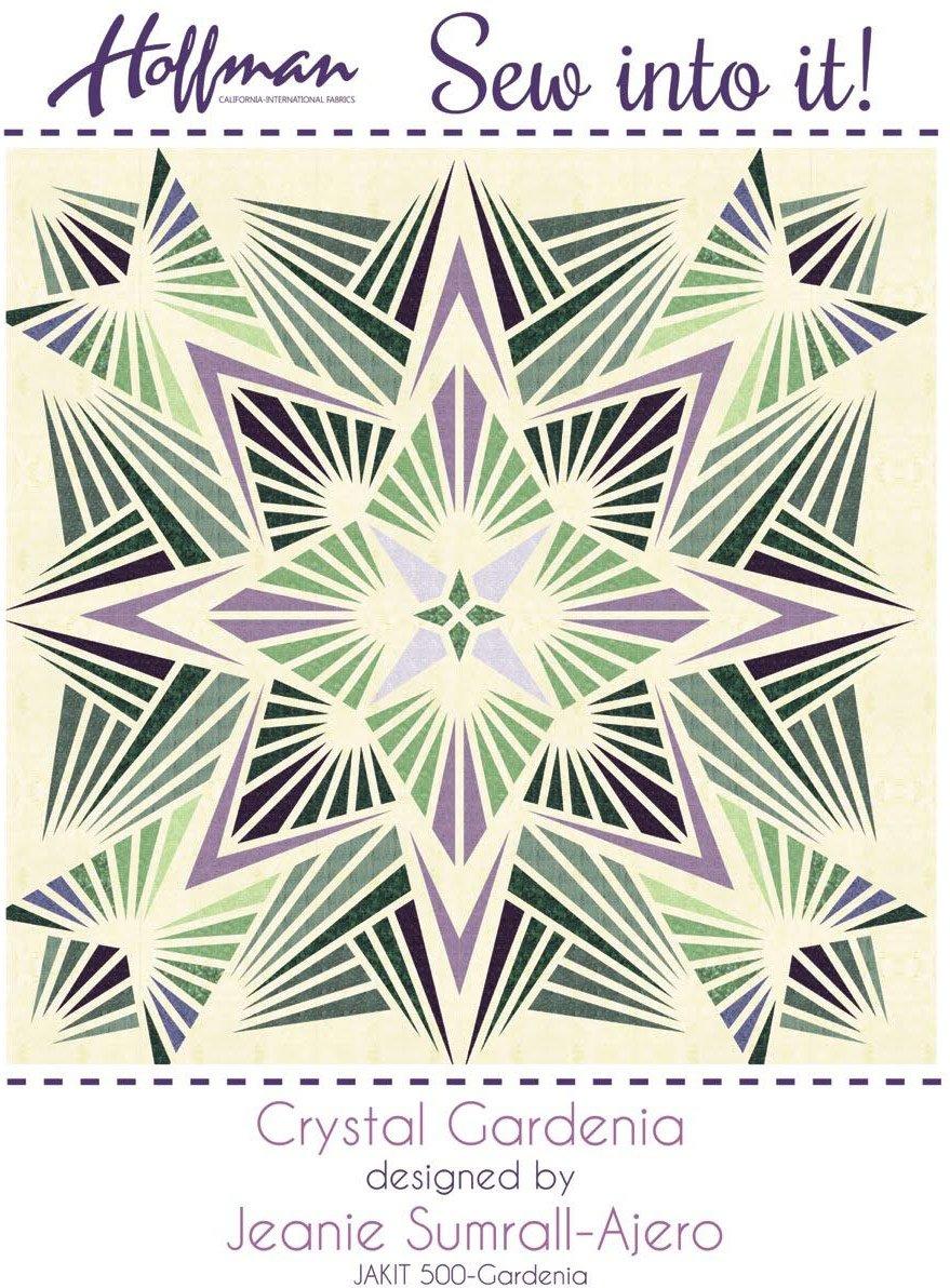 Bali Batiks 1895 Crystal Gardenia Quilt Kit Hoffman Fabrics JAKIT-500