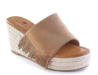 19c2039ca13c Ruff Hewn Wyatt Casual Wedge Sandals 7 M