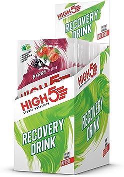 HIGH5 Bebida de Recuperación Bolsitas de Proteína (Bayas, 9 x 60g)