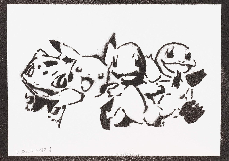 Póster Pokemon Grafiti Hecho A Mano - Handmade Street Art ...