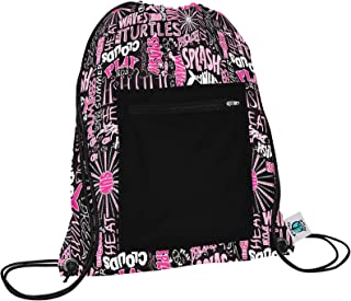 product image for Planet Wise Drawstring Sports Bag, Pink Splash, Made in the USA