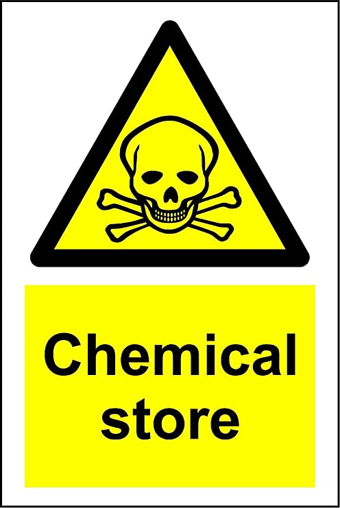 Amazon Warning Chemical Store Safety Sign 3mm Aluminum Sign