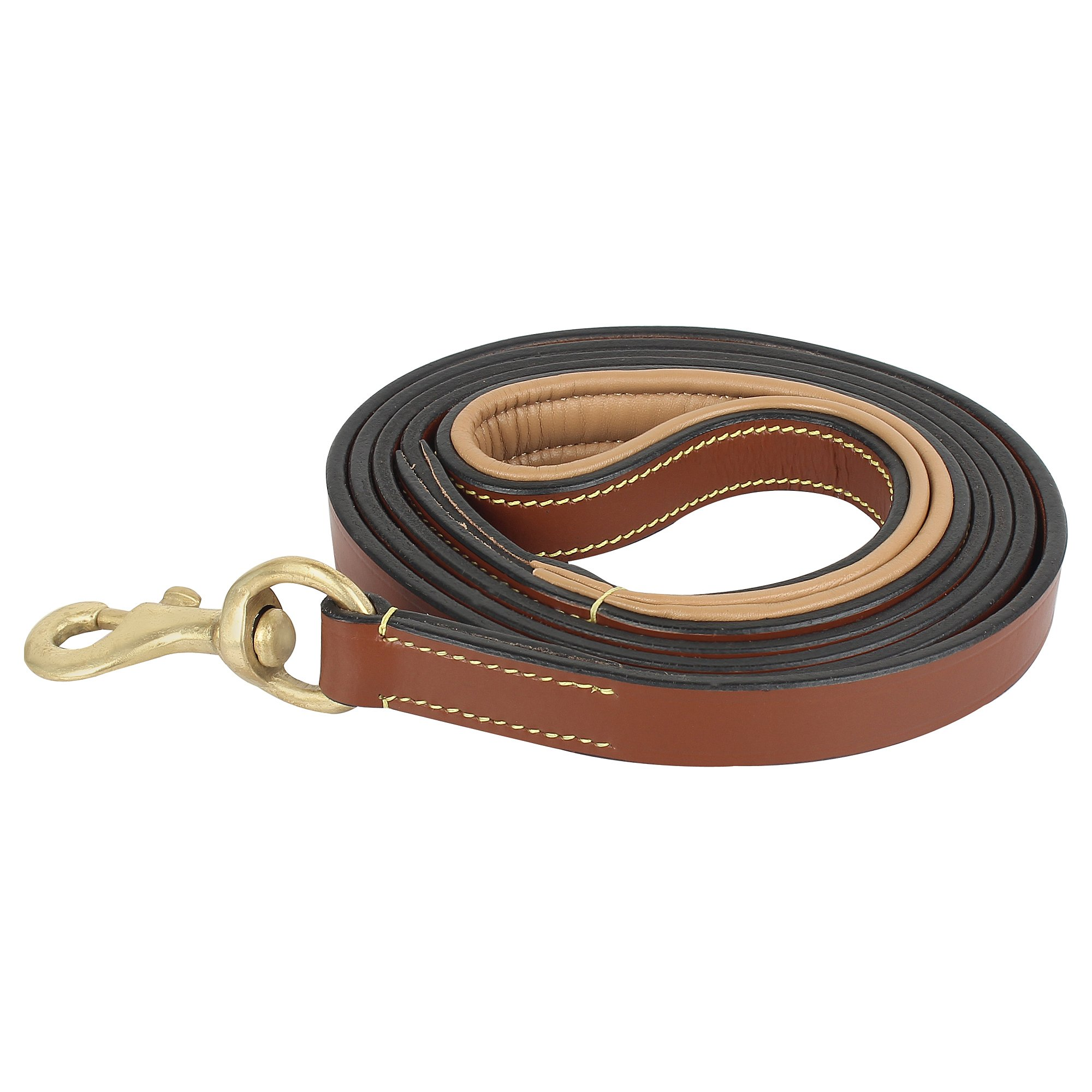 Rustic Town Leather Dog Leash 6 ft - Gentle Leader Leash for Small, Medium & Large Dogs - Miltary Grade Lead for Training & Walking by Rustic Town (Image #2)
