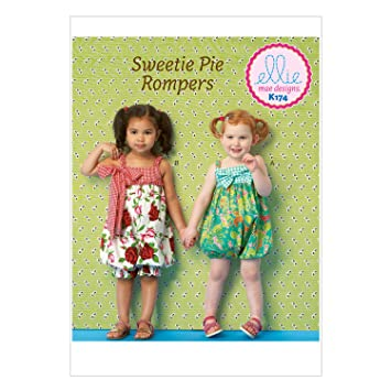 Amazon.com: KWIK-SEW PATTERNS K0174 Toddlers\' Rompers, All Sizes