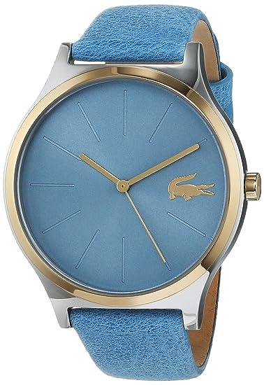 Lacoste Reloj Analógico para Mujer de Cuarzo con Correa en Cuero 2001012: Amazon.es: Relojes