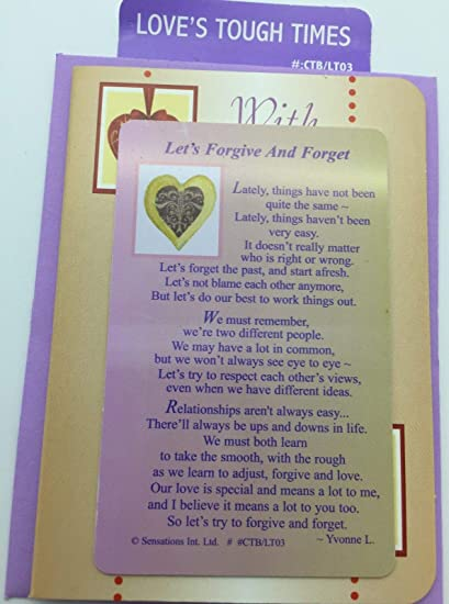 Amazon.com: Let s Forgive And Forget Sentimental – Cartera ...