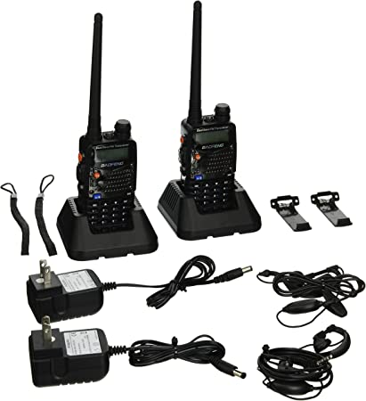 BaoFeng UV-5RA Two-Way Radio 2 Pack UV5RA Dual band UHF//VHF Ham 136-174//400-520MHz Transceiver