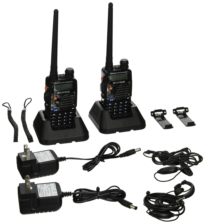 BaoFeng UV-5RA Two-Way Radio, Dual Band UHF VHF Ham 136-174 400-520MHz Transceiver – 2 Pack