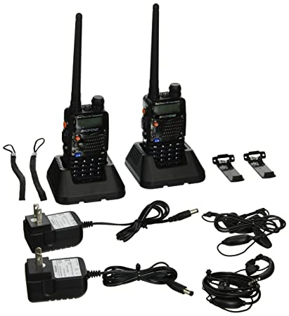 BaoFeng UV-5RA Two-Way Radio, Dual Band UHF/VHF Ham 136-174/400-520MHz  Transceiver - 2 Pack