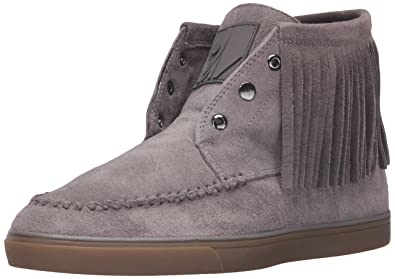 Nine West Women's Ballico Suede Ankle Bootie, Grey, ...