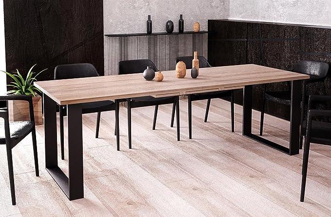 Endo Moebel Kufentisch Esstisch Cora Wildeiche ausziehbar