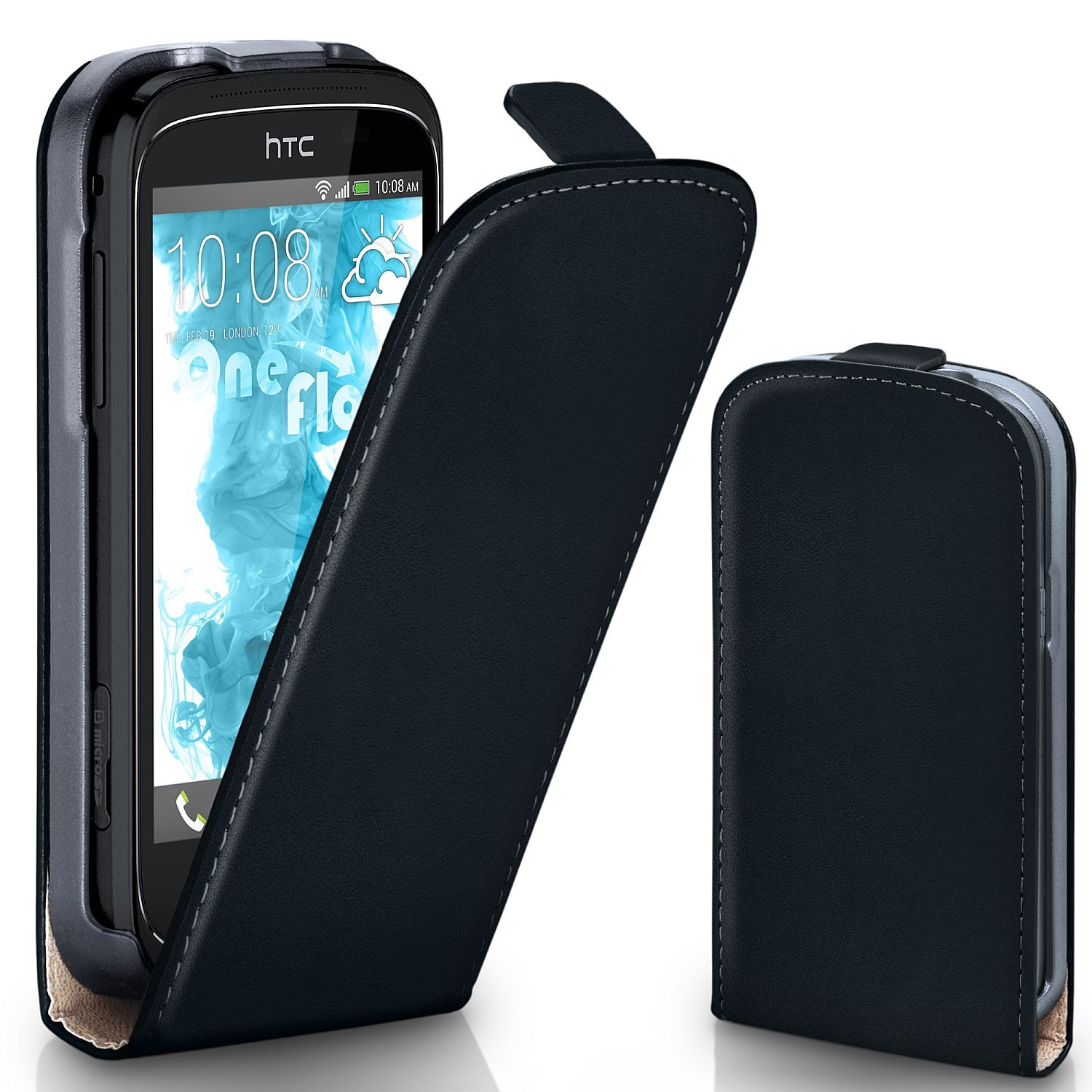 official photos 030d6 6f4e2 OneFlow Cover for HTC Desire C Cover case with magnet | Flippable ...