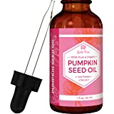 Pumpkin Seed Oil By Leven Rose, 100% Pure Organic Cold Pressed Natural Moisturizer for Dry Hair Rough Skin and Nails 1 oz