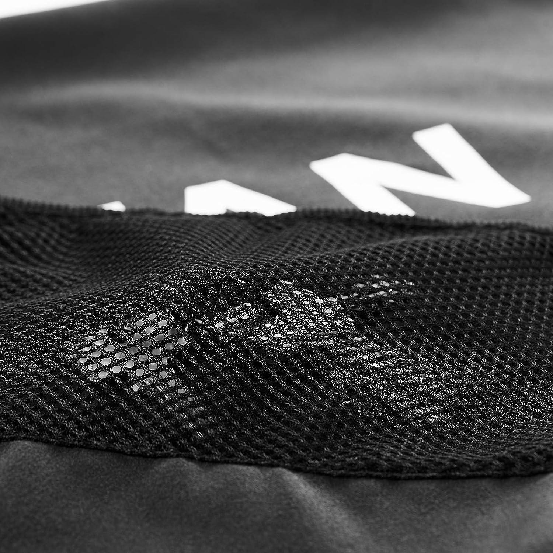 T1TAN Glove Towel Serviette de Gardien de But en Microfibre avec Sac en Maille et Clip /à accrocher au Portail Noir 40 x 80 cm
