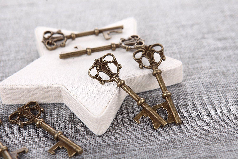 Amazon.com: 40x Key Shaped Bottle Openers Wedding Favors Antique ...