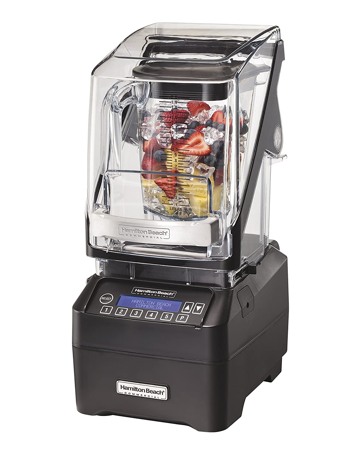 Hamilton Beach Commercial HBH755 The Eclipse Blender, 64 oz./2L, 3 hp, Quiet Blend Technology, 18.5