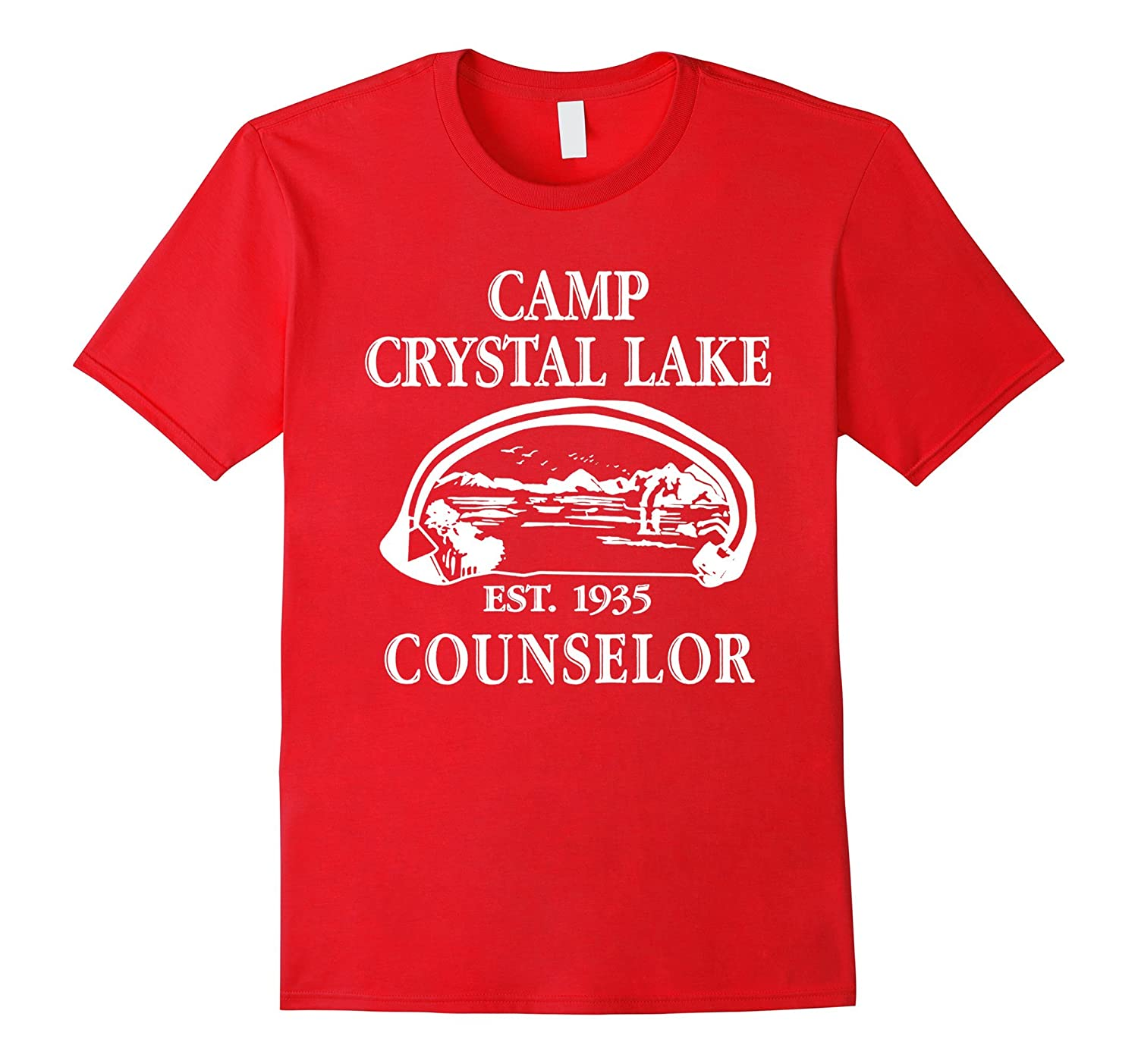 Summer Lake Camp Scary Halloween Horror Movie T-Shirt-TD
