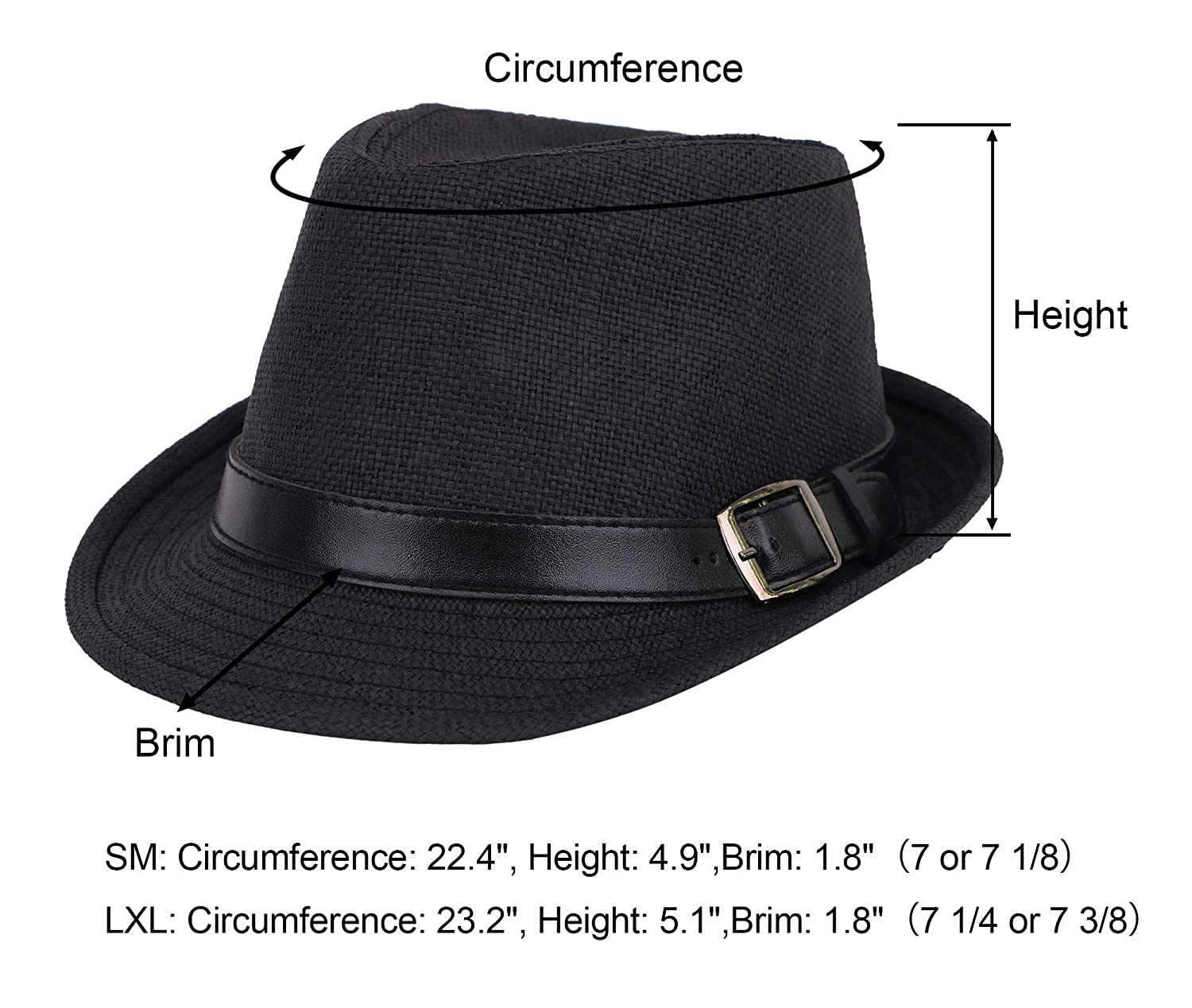 3f8bb4c67c840d Simplicity Panama Style Trilby Fedora Straw Sun Hat with Leather Belt at  Amazon Men's Clothing store: