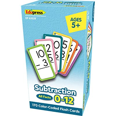 Teacher Created Resources Subtraction Flash Cards - All Facts 0–12 (EP62028): Office Products