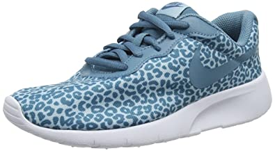 low priced 238d7 3b579 Nike Tanjun Print Gg, Chaussures de Gymnastique Fille Bleu (Ocean  Bliss Noise Aqua