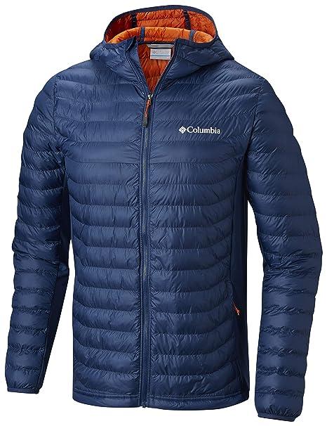 Columbia Powder Lite Light Hooded Jacket Chaqueta híbrida con Capucha, Aislamiento térmico sintético Hi-