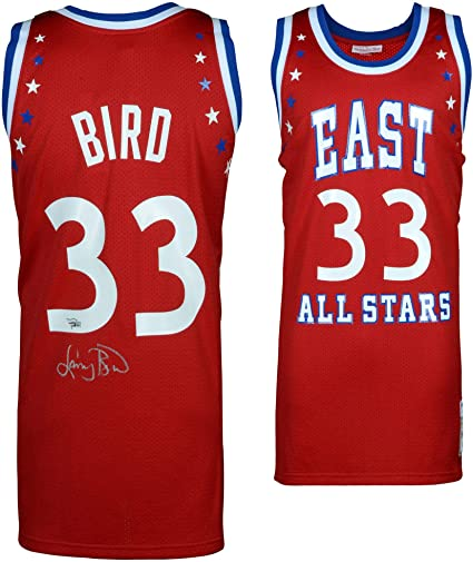 48d92d6332b Larry Bird Boston Celtics Autographed Mitchell   Ness 1983 All-Star Game  Red Authentic Jersey
