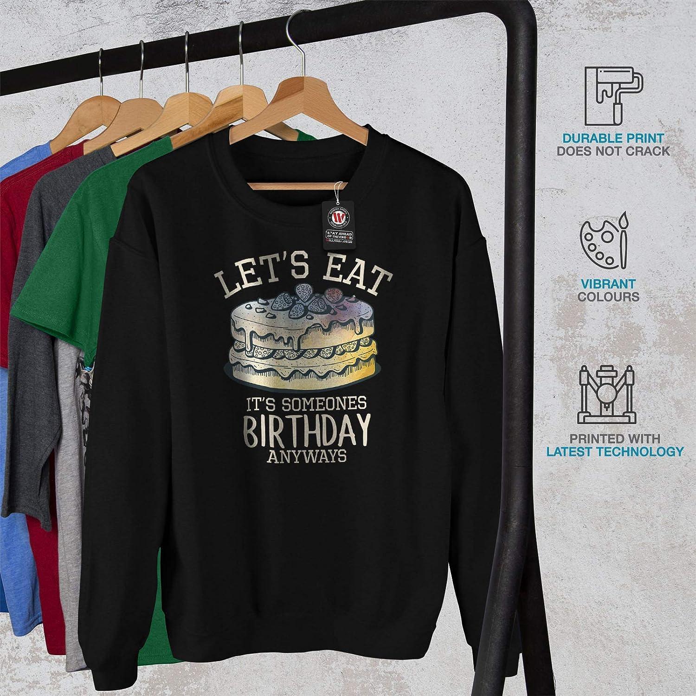 Occasion Funny Casual Jumper wellcoda Birthday Cake Mens Sweatshirt