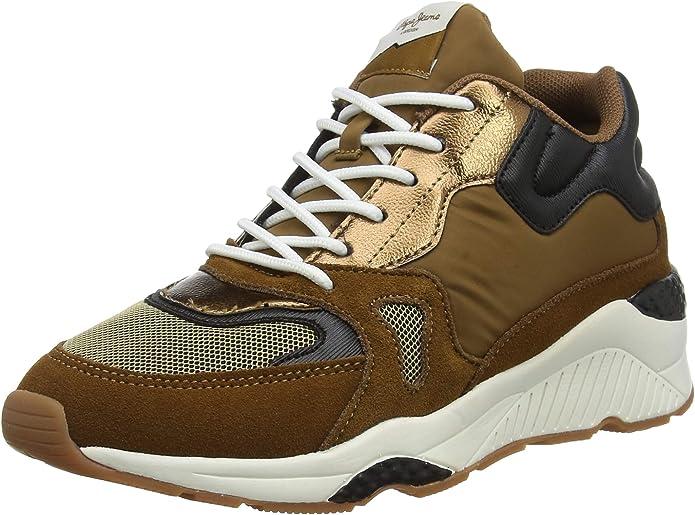 Pepe Jeans Harlow Up Run, Zapatillas Altas para Mujer: Amazon.es: Zapatos y complementos