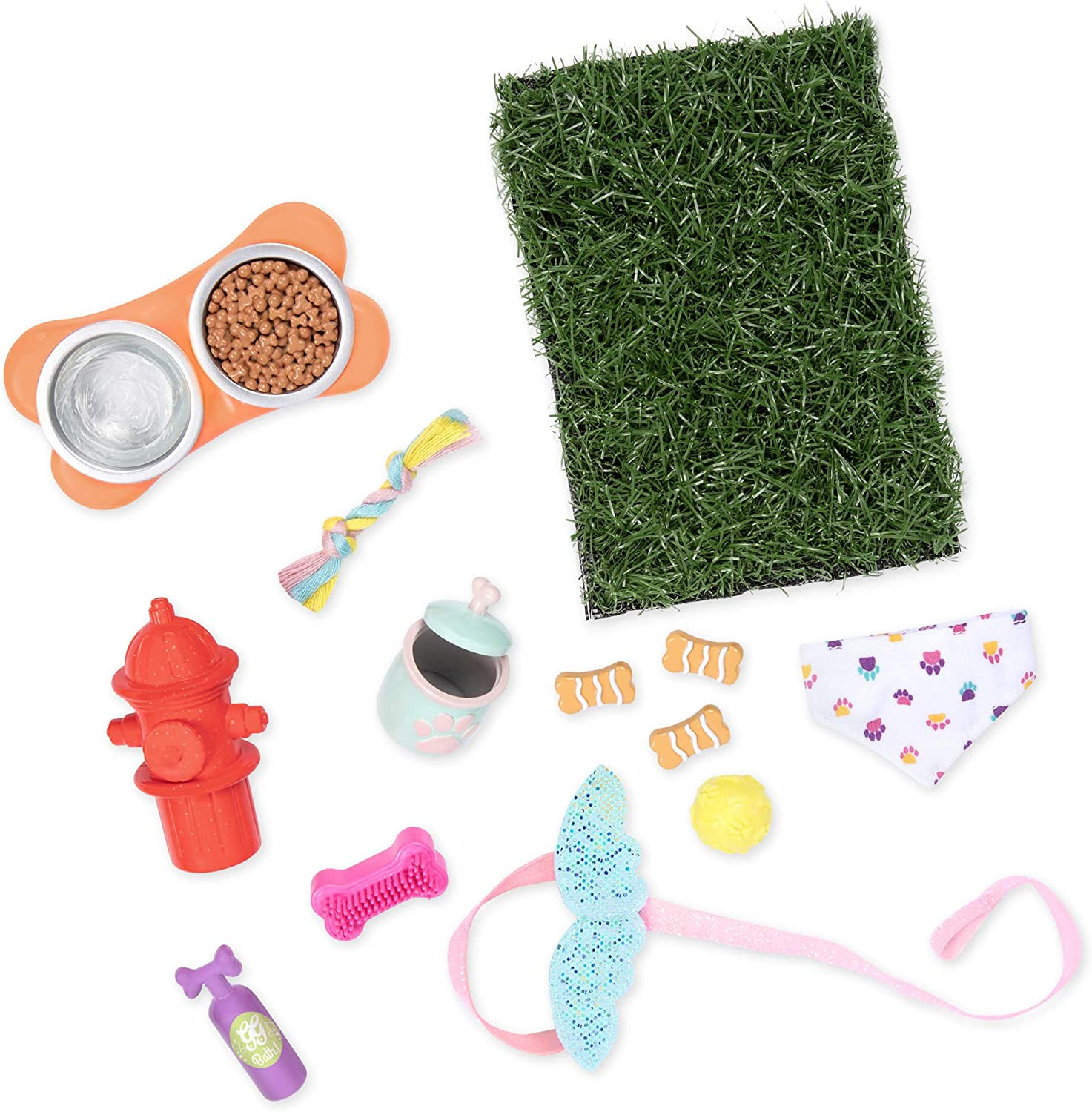 Glitter Girls by Battat – GG Pet Play Set – Puppy Accessory Set for 14