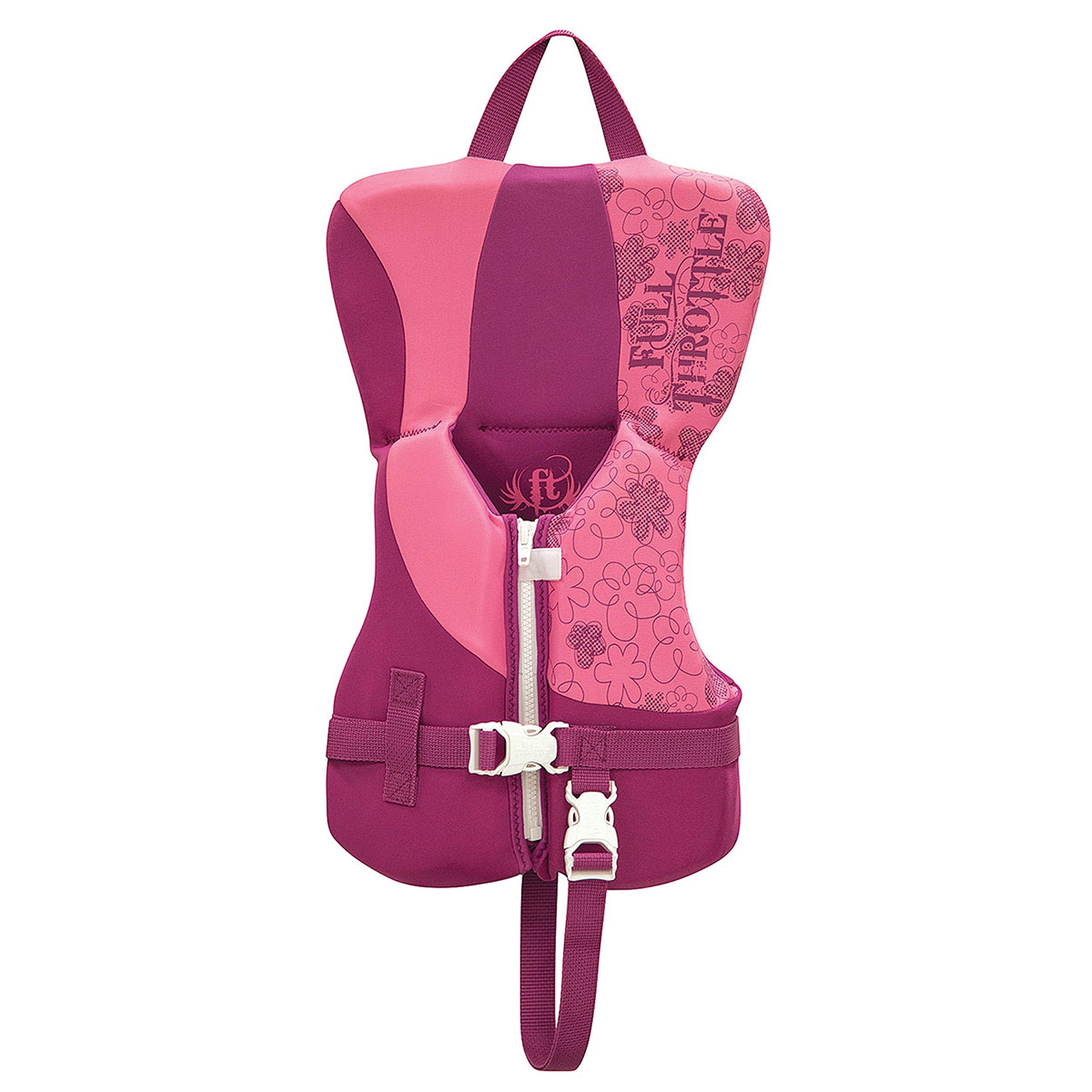 Full Throttle Unisex-Baby 142100-105-000-16 Rapid-Dry Life Vest-Infant, Pink by Full Throttle