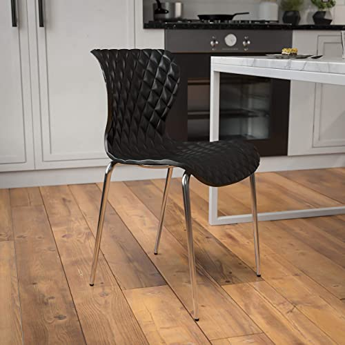 Deal of the week: Flash Furniture 4 Pack Lowell Contemporary Design Black Plastic Stack Chair
