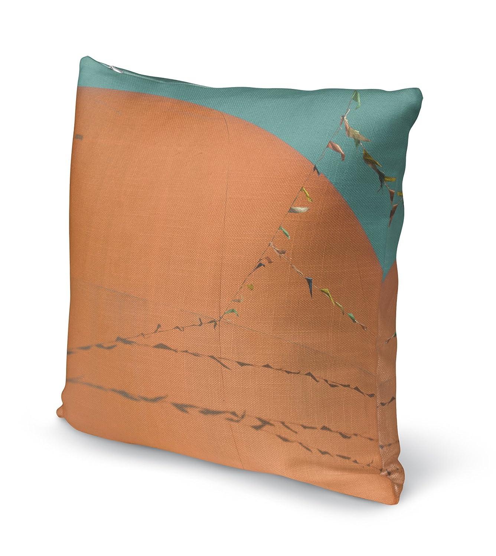 KAVKA Designs Grand Orange Accent Pillow, BOBAVC021DI16 Size: 16X16X6 - - HEARTLAND Collection Orange//Blue