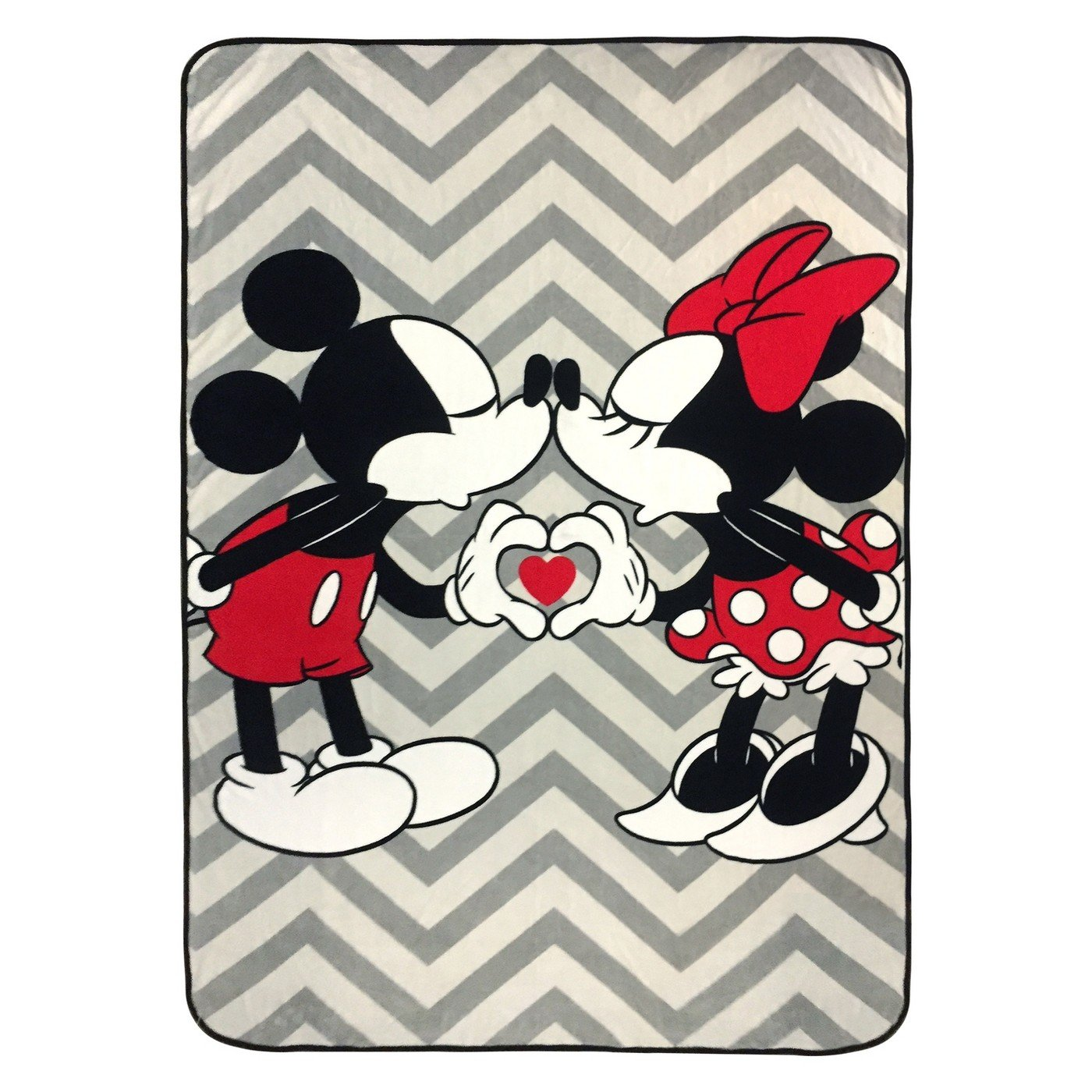 Disney Mickey Mouse & Minnie Mouse Twin Bed Blanket Gray/Black