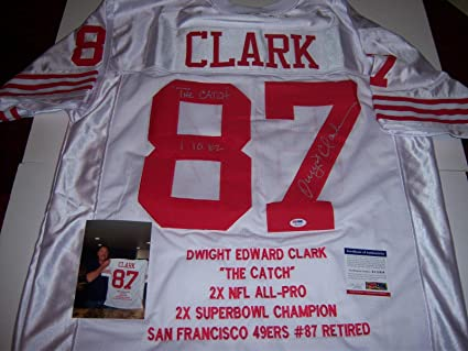 10c73105bc2 Image Unavailable. Image not available for. Color  Signed Dwight Clark  Jersey - Sanfrancisco ...