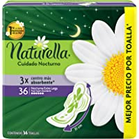 Naturella Toalla Femenina Cuidado Nocturno, Flujo Abundante, 36 unidades