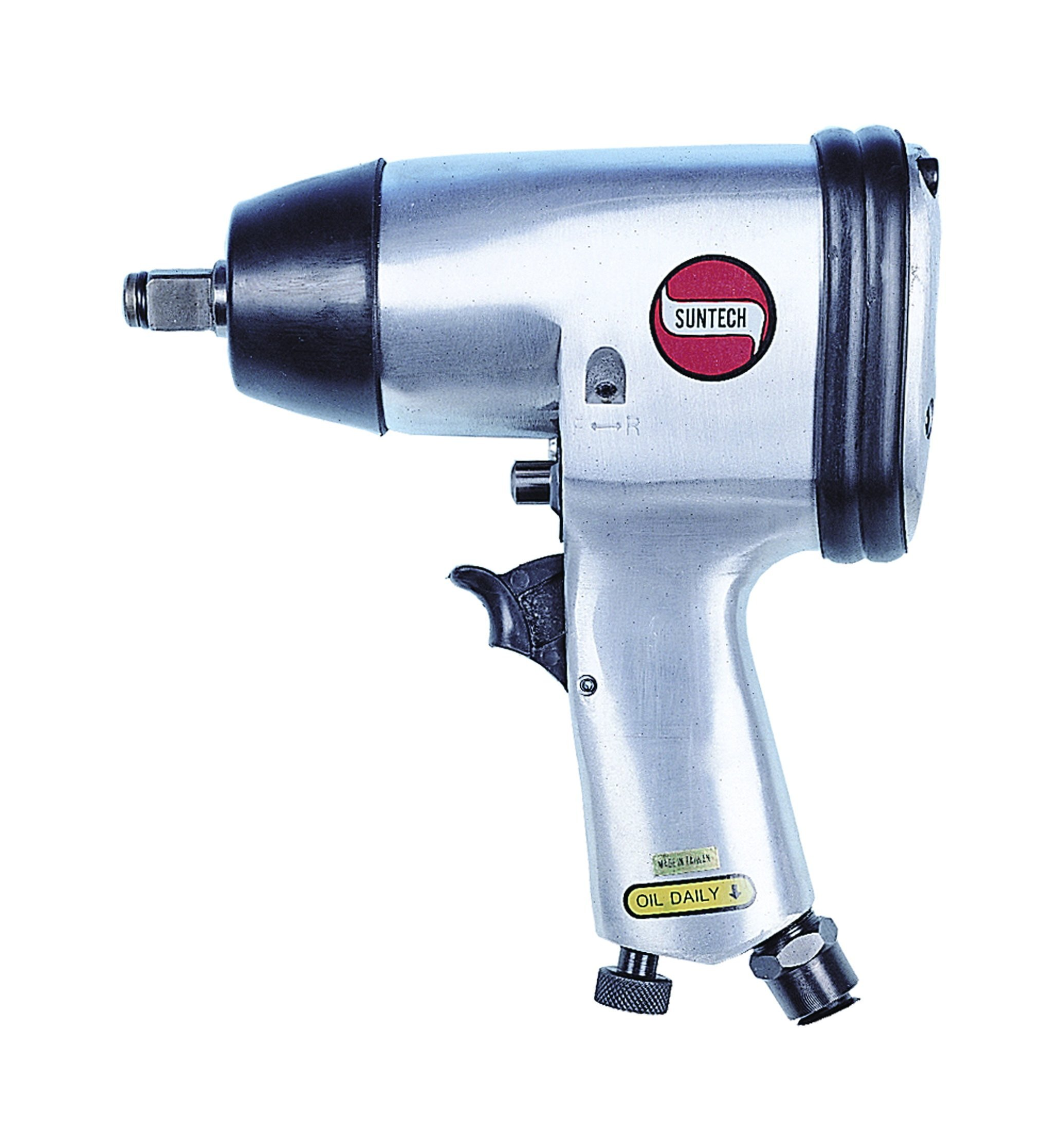 SUNTECH SM-403 Air Impact Wrench with Single Hammer, Silver, 1/2''