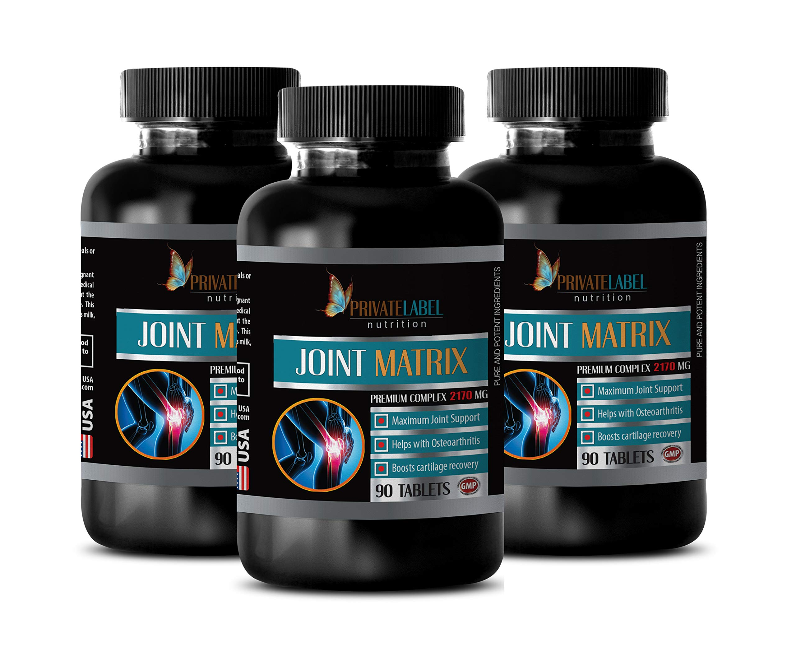 Bone Support Supplements - Joint Matrix Premium Complex 2170MG - zinc with Copper Supplement - 3 Bottles 270 Tablets