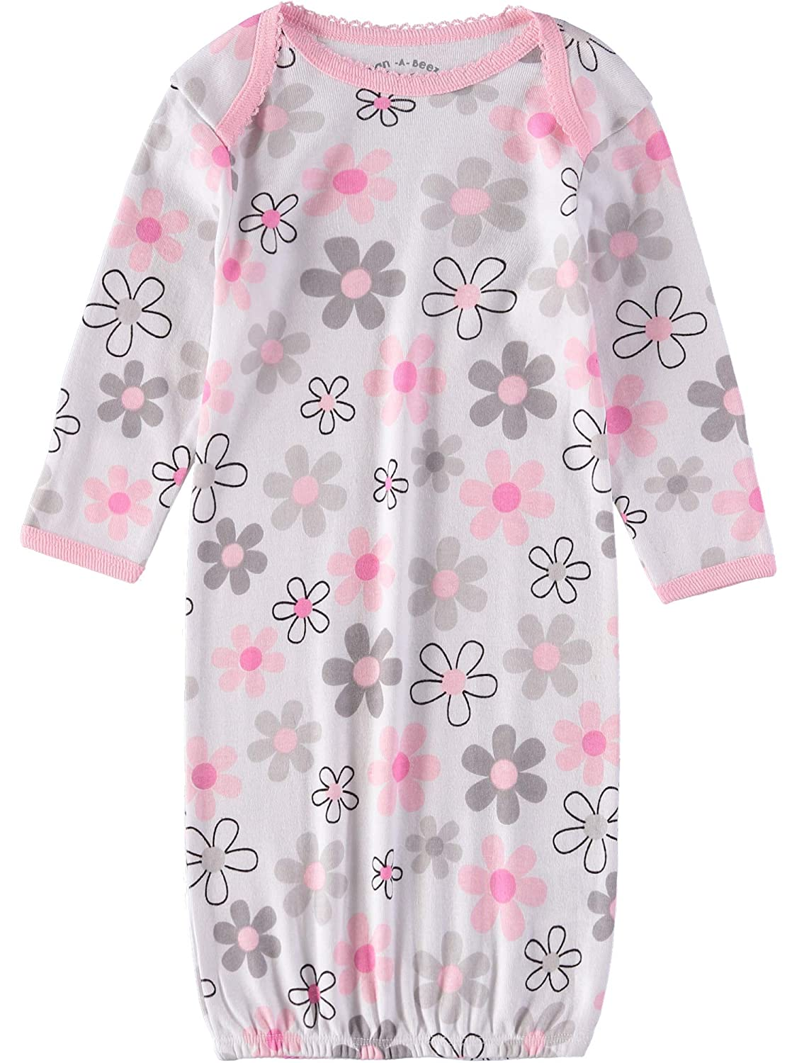 Wan-A-Beez Baby Boys and Girls 3 Pack Printed Gowns