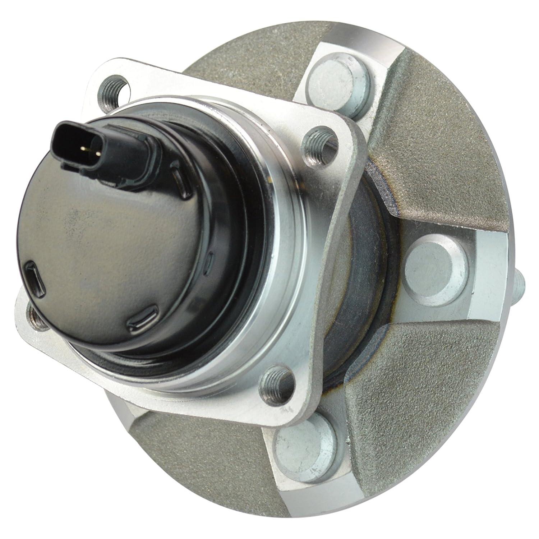TRQ Rear Wheel Hub /& Bearing Assembly Pair Set for Toyota Pontiac w//ABS